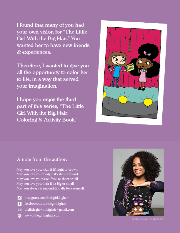 The Little Girl With the Big Hair Coloring & Activity Book